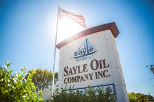 photo of Sayle Oil main office sign