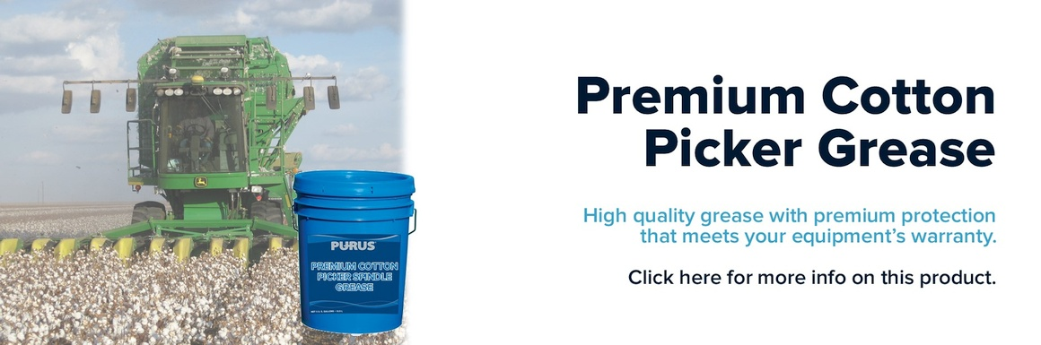 premium cotten picker grease banner